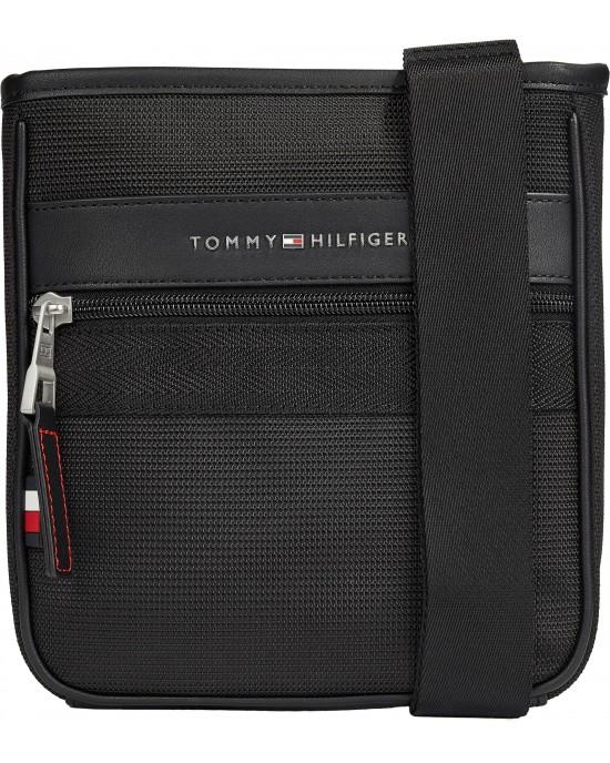 Tommy Hilfiger Elevated Nylon Mini Crossover Black 7264