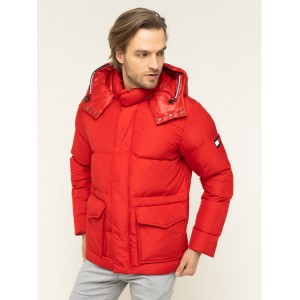 Tommy Hilfiger Bomber Jacket Hooded Red