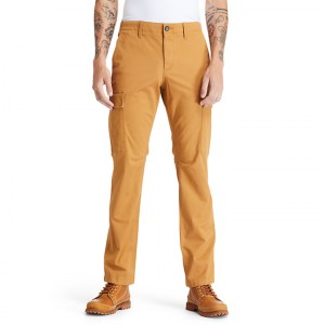 Squam Lake Cargo Trousers for Men in Yellow