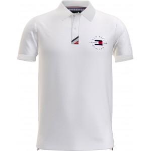 Tommy Hilfiger Polo Μπλουζα Λευκή