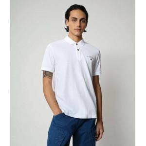 Napapijri Πόλο Μπλούζα Λευκή NP0A4FA