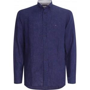 Tommy Hilfiger Linen Shirt Blue