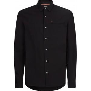 Calvin Klein Slim Fit Stretch Poplin Black Shirt