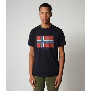 Napapijri T-Shirt Μπλε NP0A4F9R