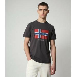 Napapijri T-Shirt Σκούρο Γκρι NP0A4F9R