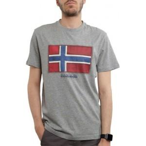 Napapijri T-Shirt Γκρι NP0A4F9R